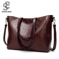 SEVEN SKIN Brand Luxury Messenger Bag Fashion Design High Quality PU Leather Shoulder Bags Large Tote