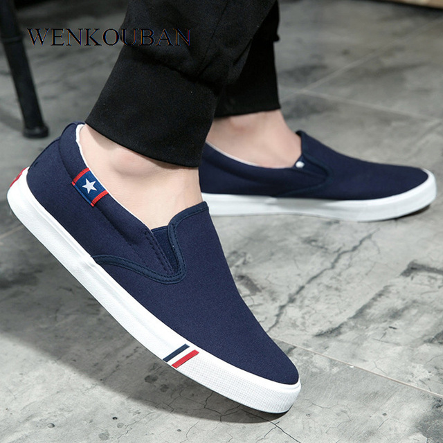 Men Canvas Shoes White Sneakers Casual Loafers Mocassim Male shoes Adult Slip On Flats Summer Mens Trainers zapatos de hombre 1