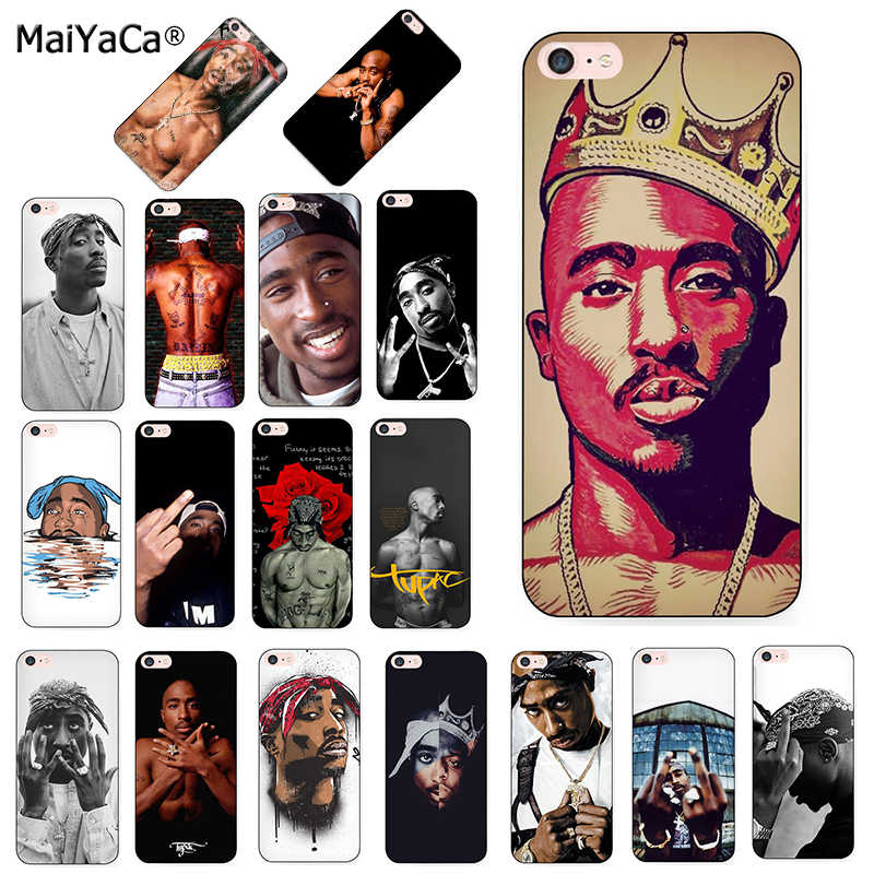 MaiYaCa 2pac Tupac And Biggie Luxury Quality black silicone soft Phone Case for iPhone 8 7 6 6S Plus X 10 5 5S SE 5C Coque Shell