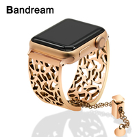 Stainless Steel Watchband Jewelry Bangle for iWatch Apple Watch 38mm 40mm 42mm 44mm Series 1 2 3 4 Band Women Strap Bracelet
