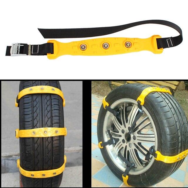 10pcs/Set Car Snow Tire Anti-skid Chains Winter Snow ChainsThickened Beef Tendon Vehicles Wheel Antiskid Tire 8x4.5x1.5cm Size S