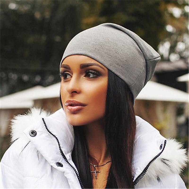 Unisex Spring Autumn Hats For Women Men Skullies Caps Women Men Solid Cotton Elasticity Warm Knitted Beanie Hat