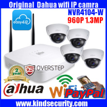 DAHUA 4ch wireless WIFI P2P NVR 4104-W with 4pcs 960P Original Dahua Easy 4 ip cloud support wifi dome camera DH-IPC-HDBW1120E-W