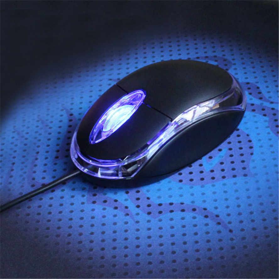 Bán Hot 800 DPI LED Quang 3D USB Wired Gaming Mouse 3 Buttons Game Pro Gamer Máy Tính Chuột Cho PC Laptop Máy Tính Để Bàn Dropshipping