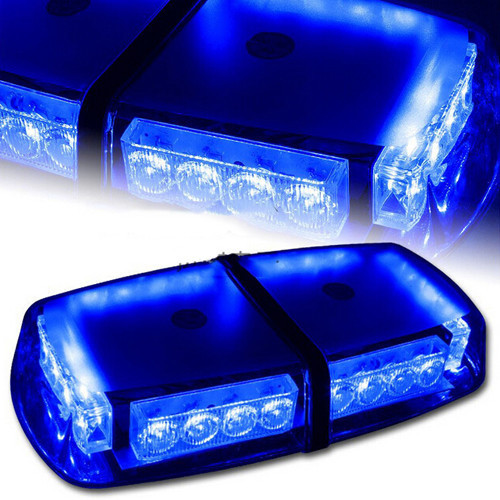 Mini LED Lightbar Strobe Beacon/Warning Lightbar/Car Emergency Light in Blue Lightbar/Mini Lightbar new coming led lightbar 240 led 20w beacon light with magnets emergency strobe light bar dc12v led warning light