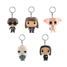 Elsadou Harry Potter Series Key Chain Doll Toys for Collection Hermione Snap Dobby Lord Voldemort Action Figures