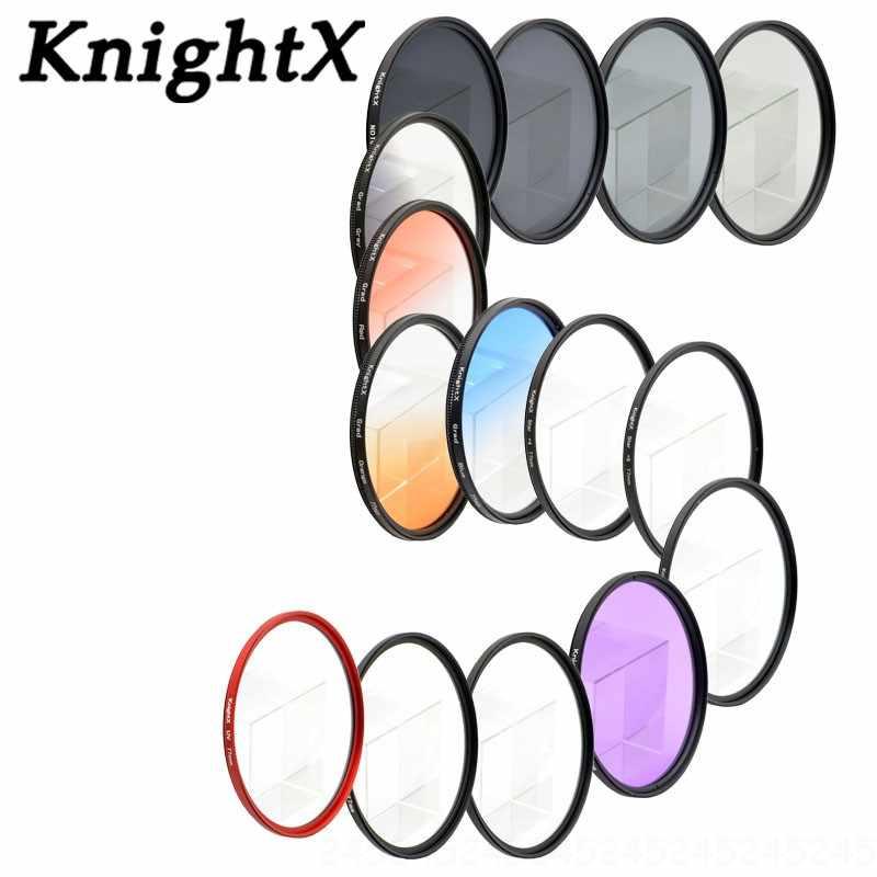 KnightX 49 ミリメートル 52 ミリメートル 55 ミリメートル 58 ミリメートル 67 ミリメートル 77 ミリメートル FLD UV CPL スター nd レンズフィルターニコンキヤノン勾配偏光カメラレンズキット 72 62