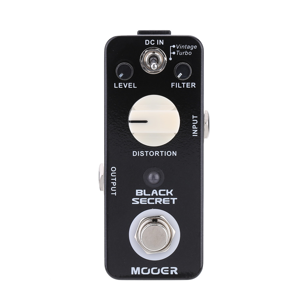 Mooer Black Secret Micro Mini Distortion Electric Guitar Effect Pedal True Bypass Guitar Accessories Part