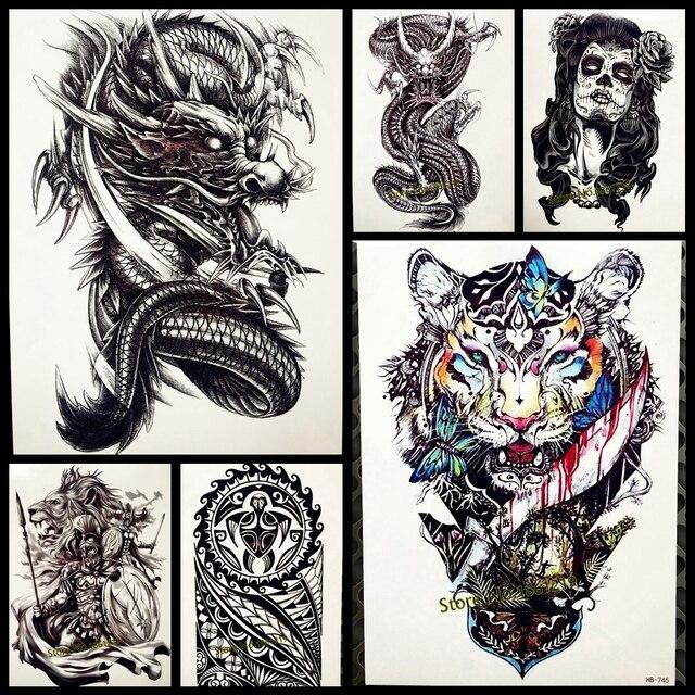 1 ШТ. Сексуальные мужчины женщины временные татуировки наклейки GQS-A061 Зло ревущий Китайский Дракон лапа дизайн водонепроницаемый Передаче рука Татуировки