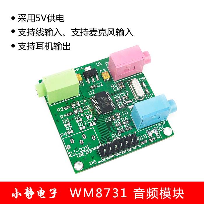 Module Audio WM8731 module