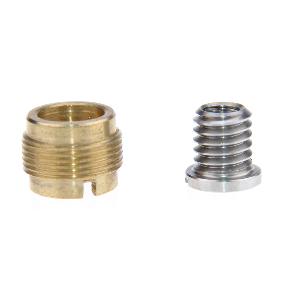 цена на Brass Microfono Adapter 3/8 Female to 5/8 Male + 1/4 to 3/8 Tripod Screw Stainless Steel Thread Screw Adapter