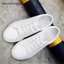 2017 New Spring White Shoes Leather Strap Flat Canvas Female Casual Women