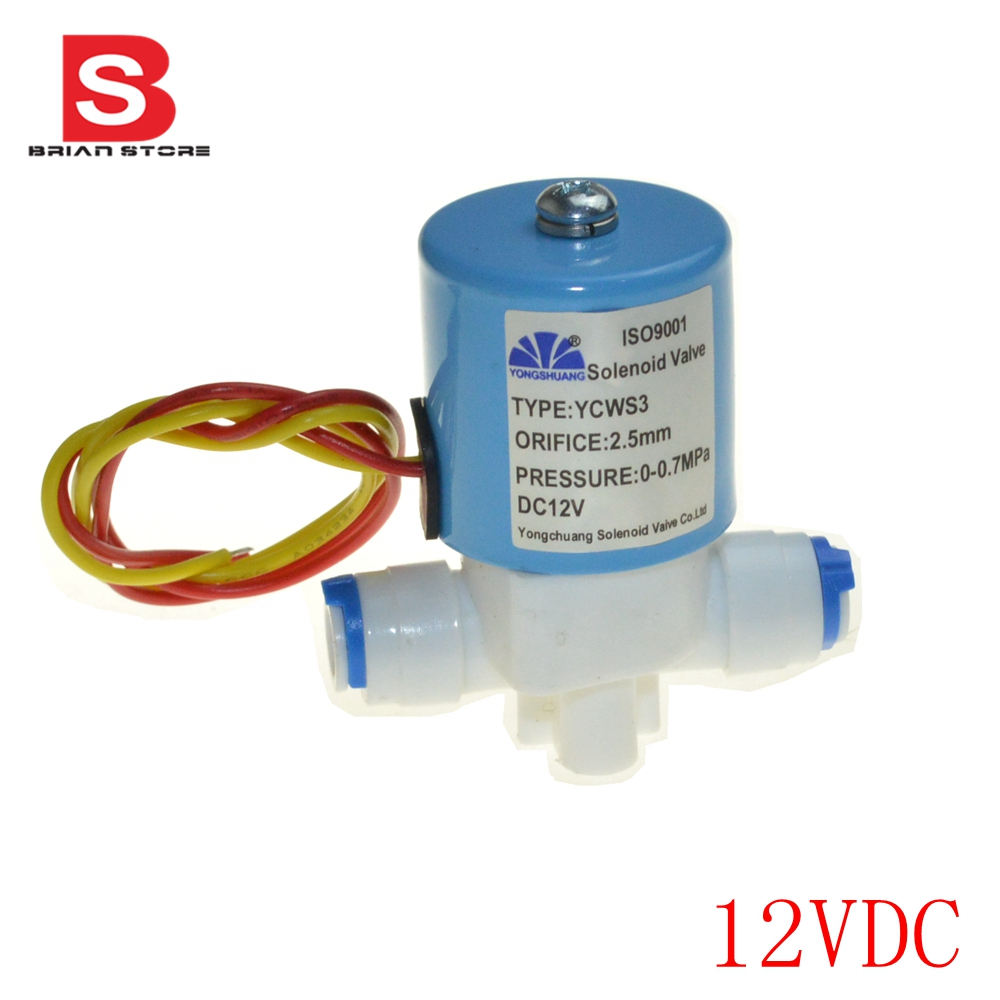 Normally Closed 1/4 pipe connection POM Plastic Electric Solar air oil 12V Solenoid Valve Water