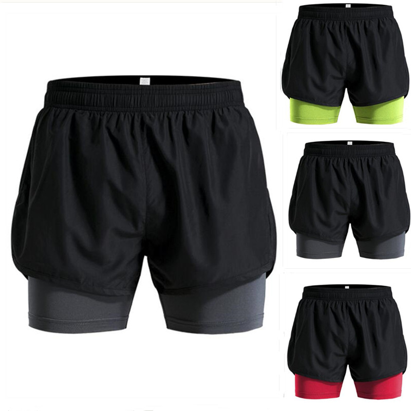 New <font><b>Men's</b></font> <font><b>2</b></font> <font><b>in</b></font> <font><b>1</b></font> <font><b>Running</b></font> <font><b>Shorts</b></font> <font><b>Men</b></font> <font><b>Sports</b></font> <font><b>Shorts</b></font> Quick Drying Training Exercise Gym Jogging Cycling <font><b>Shorts</b></font> with Longer Liner image