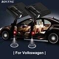 ROVFNG Willkommen lichter für auto Führte Tür Licht Für Volkswagen Logo Passat B6 Golf Beetle Bora Caddy Corrado Fuchs Polo scirocco