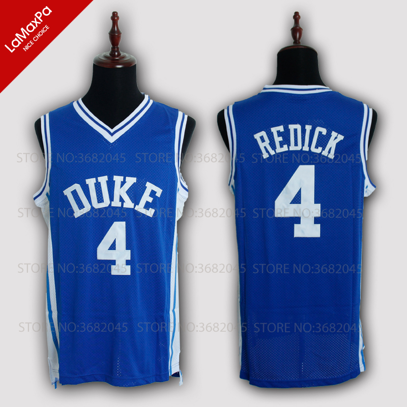 2b23aa7dc7a3 ... college basketball jersey ad57f 9f2e0  france men cheap duke university blue  devils j.j. redick jerseys no.4 throwback stitched retro