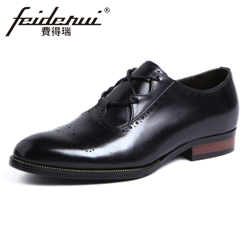 British Style Genuine Leather Mens Carved Oxfords Round Toe Breathable Handmade Man Formal Dress Wedding Brogue Shoes YMX402British Style Genuine Leather Mens Carved Oxfords Round Toe Breathable Handmade Man Formal Dress Wedding Brogue Shoes YMX402