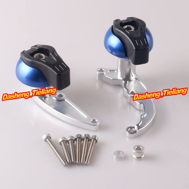 Stator Cover Slider Frame Crash Protector For Honda CBR 600RR 2007 2008 & CB600 Hornet 2008-2010, Blue + Silver for honda cbr 1000rr cbr1000rr 2008 2009 2010 2011 gold motorcycle frame slider crash protector bobbins falling protection