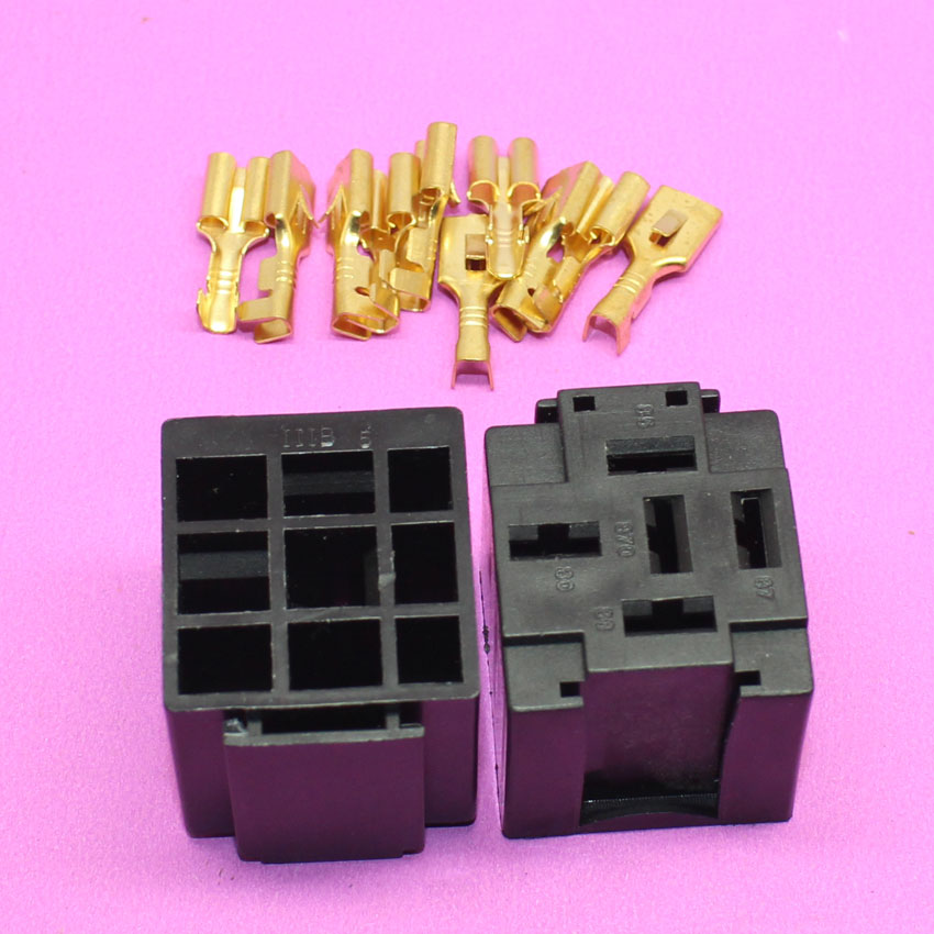 YuXi Hot selling Automotive Relay Sockets, 5 Pin Mount, Series Relays car relay socket auto relay connector