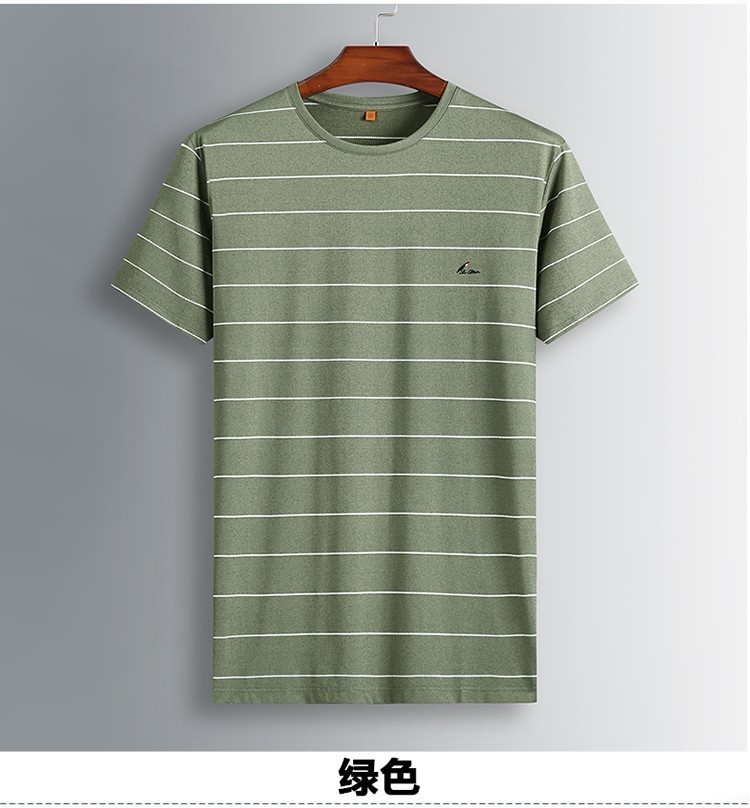 8XL 7XL Polo Shirt Men's Business Casual Summer Breathable Short Sleeve Striped Polo Shirt Cotton Of High Quality 81931 Poles 43
