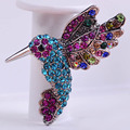 Animal Bird Brooches For Women Kids Men Anti Silver Plated T shirt Decorations Vintage Crystal Mix Color Animal Brooch Corsage