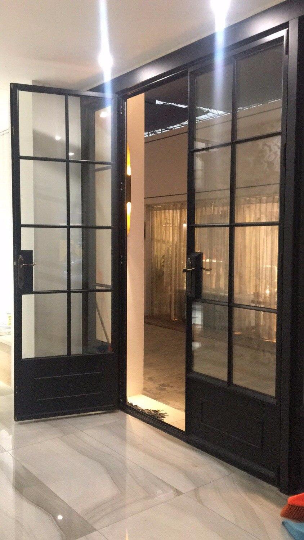 Export Gehärtetes Low E Single/doppelverglasung Außen Schmiedeeisen  Schiebeeisen Französisch Türen Hench If39