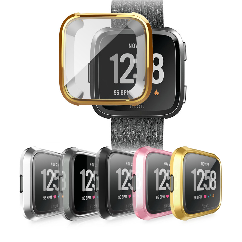 5 Color Soft Plating TPU Case Cover For Fitbit Versa Full Protection Silicone Cases Wearable Devices Smartwatch Protector