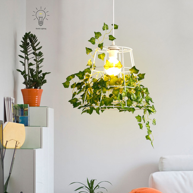 aliexpress koop groene natuurlijke opknoping plant kooi