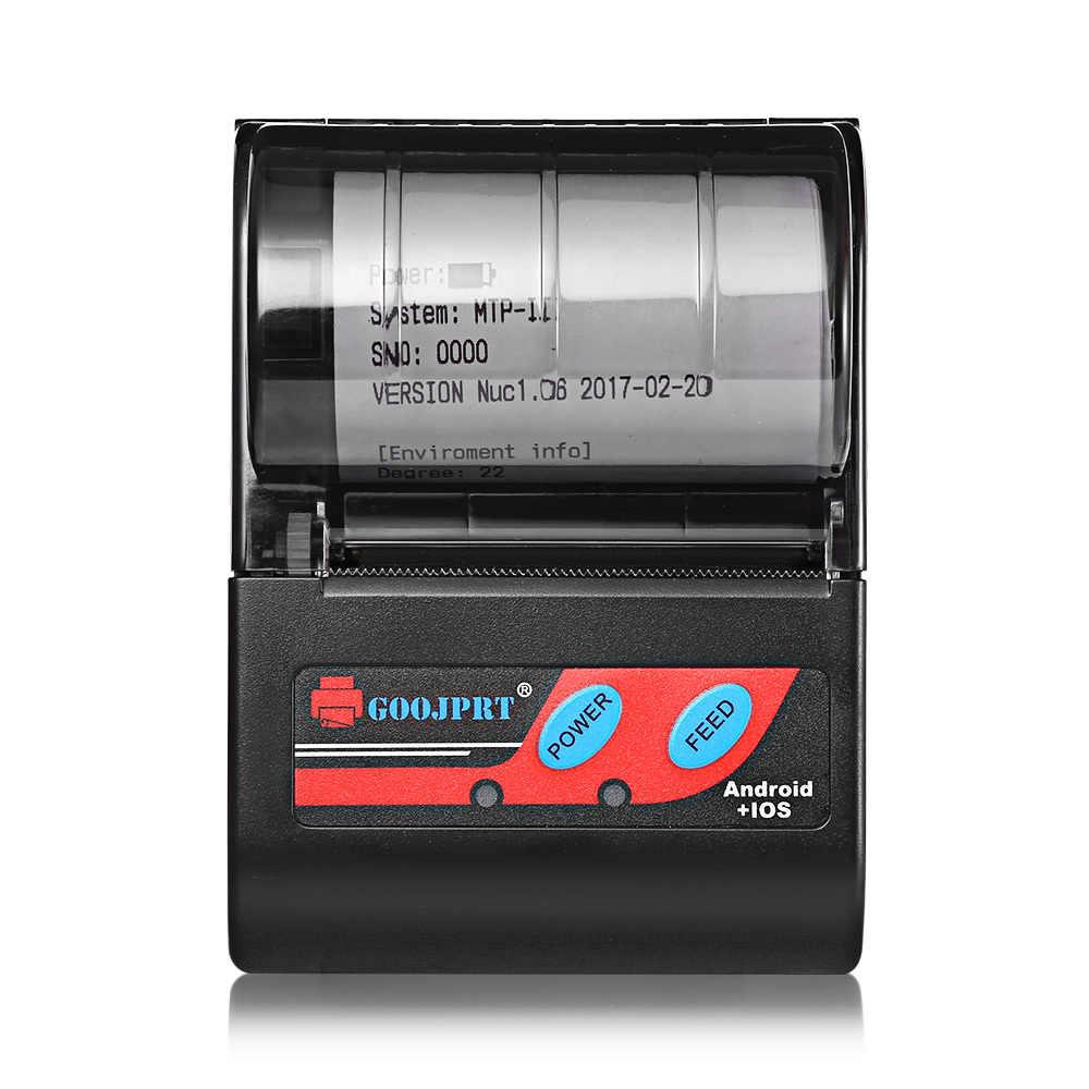 ポータブルミニbluetoothプリンタtp bluetoothアンドロイドios電話電源銀行によって充電