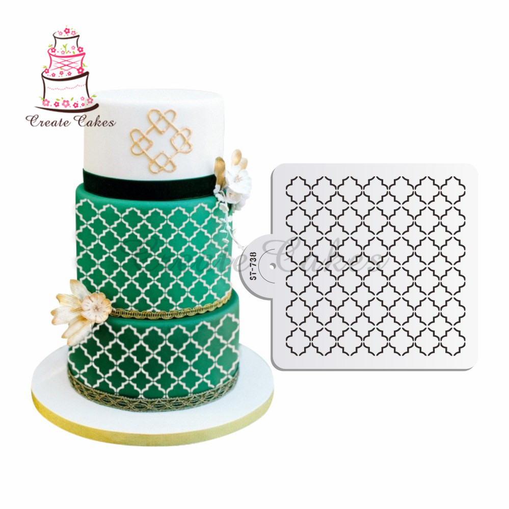 stenciled wedding cake design classic cookie cake stencil cake decorating tools cake 20521