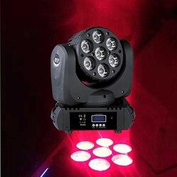 Profesjonalny głowica ruchoma wiązki 7x12 W RGBW LED ruchoma głowa DJ Disco Party klub nocny Bar święta bożego narodzenia oświetlenie sceniczne