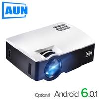 AUN מקרן AKEY1/Plus עבור קולנוע ביתי, 1800 לומן, תמיכה מלאה HD 1080 P HDMI (אופציונאלי אנדרואיד 6 גרסת התמיכה 4 K וידאו)