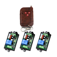 Free Shipping Wholesale AC220V 10A Relay 1CH Wireless RF Remote Control Switch 1 Transmitter 3 Receiver