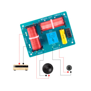 Image 4 - Tenghong 2pcs 2 Way Audio Crossover Board HIFI Bass Treble Speaker Frequency Divider For Home Theater Sound Quality Booster DIY