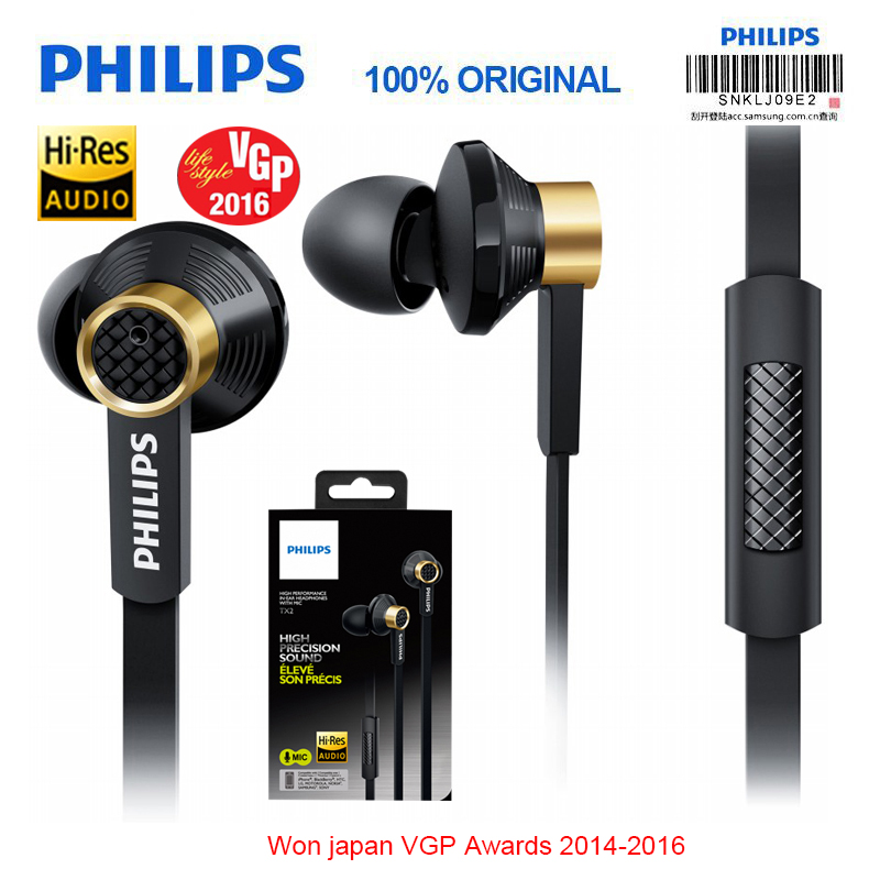 Philips Original Tx2 HiRes Earphone High Resolution HIFI Fever Earbuds Ear Noise Canceling Earphones for a