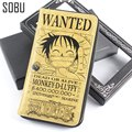 2016 New Creative Commemorate Anime One Piece Wallet Anime Luffy Cartoon PU Leather Wallet Gift For Boyfriend N048