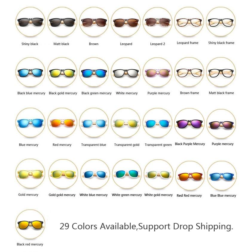 Ralferty Retro Trä Solglasögon Män Bambu Solglasögon Kvinnor - Kläder tillbehör - Foto 5