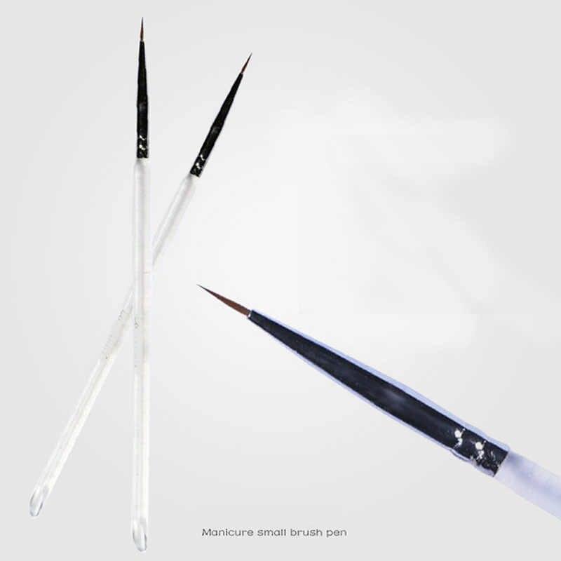 2 шт./лот тонкой ручной росписью Ручка-закладка круглый наконечник акварельные кисть для рисования; ручка маникюр Дизайн ногтей инструмент