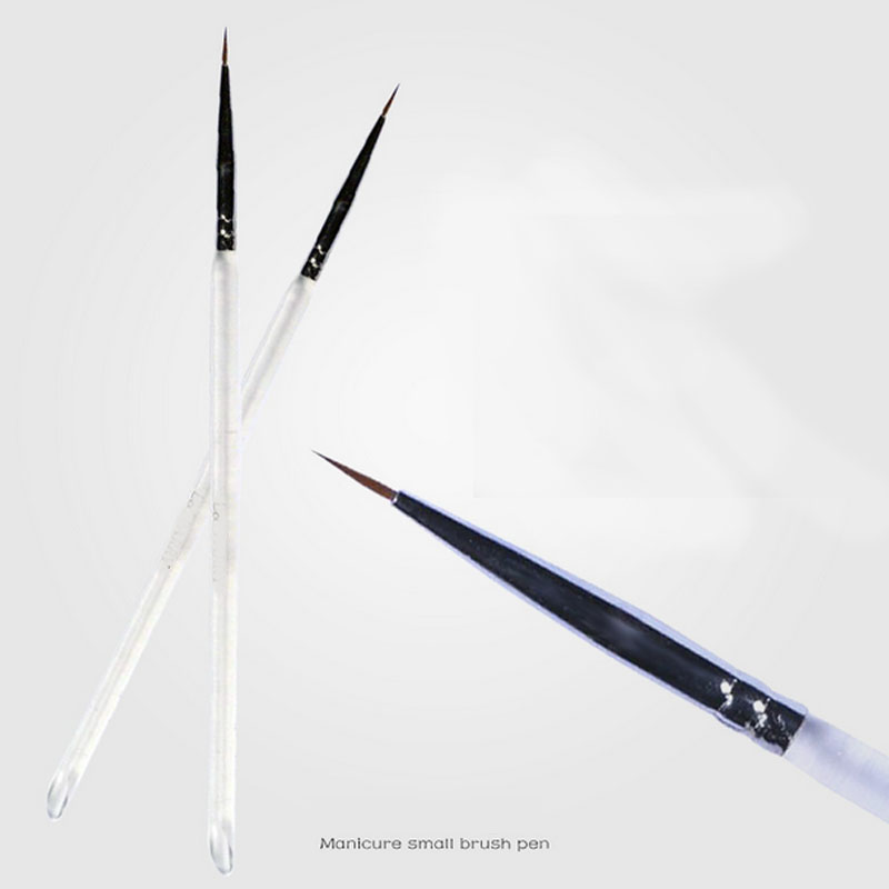 2pcs/lot Fine Hand painted Hook Line Pen Round Tip Watercolor Drawing Brush Pen Manicure nail art Tool 10pcs fine hand painted hook line pen round tip watercolor drawing brush pen student stationery art supplies