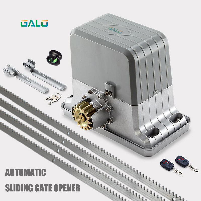 1800kg electric sliding gate motors/automatic gate opener engine with 4m steel racks photocells lamp remote control kit Optional