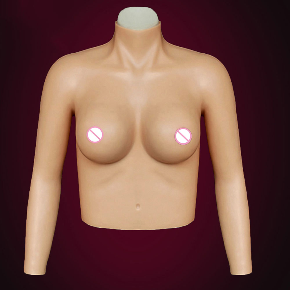 ST-6 top quality CD realistic silicone breast forms easy curves bust enhancer artificial breasts crossdresser