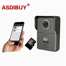 Functional wireless video door phone /outdoor door bell wifi doorphone intercom wide angle with Free 64GB Micro SD card
