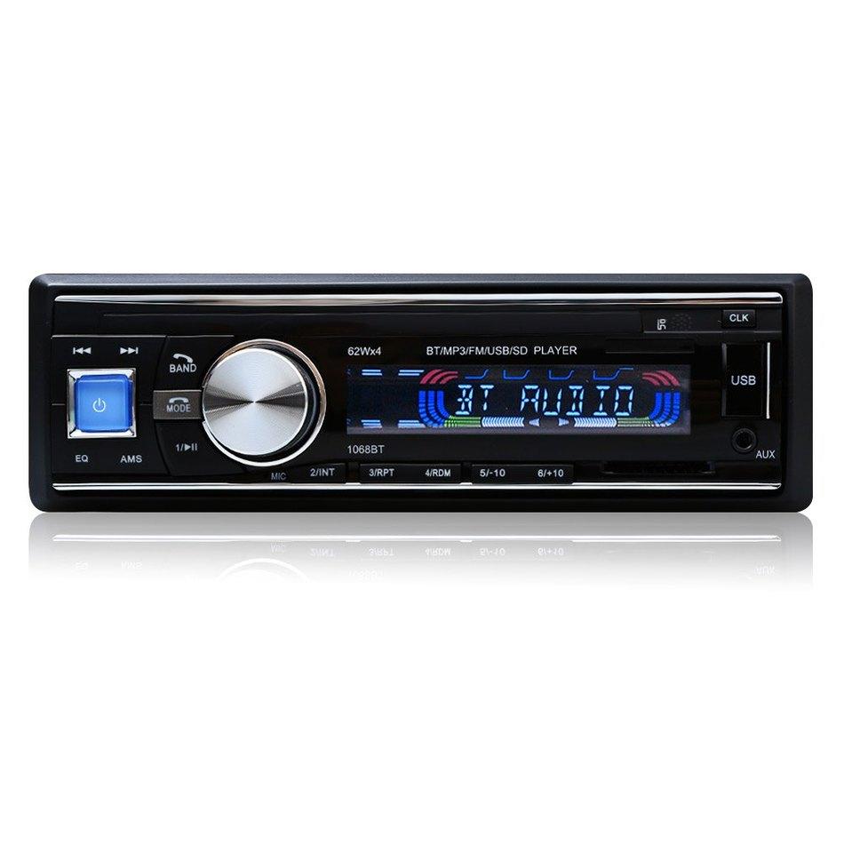 Prix pour 100% D'origine De la Voiture Radio Stéréo Lecteur Bluetooth Téléphone AUX-IN MP3 FM/USB/1 Din/Télécommande Iphone 12 V voiture Audio De Voiture Électronique