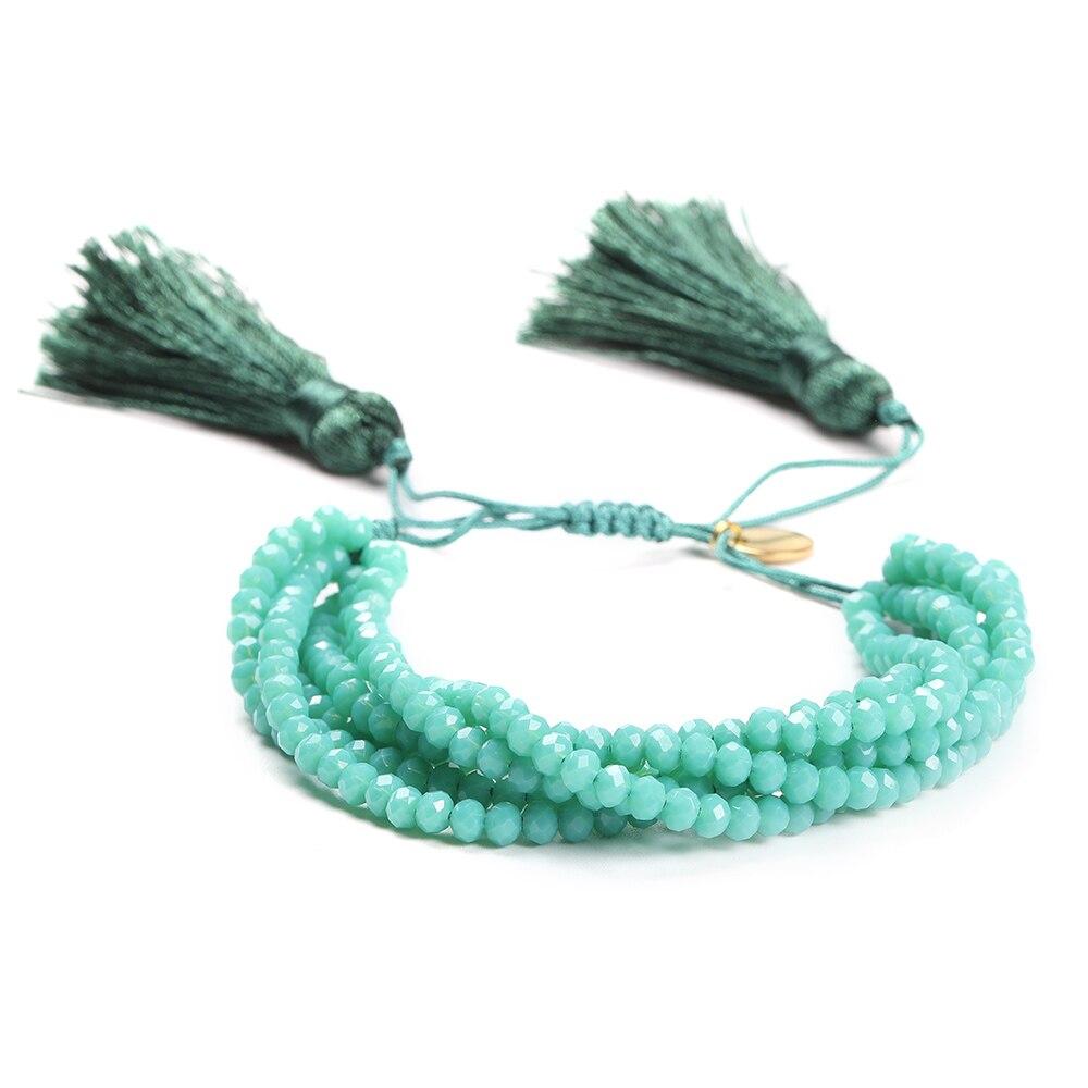 Go2boho Evil Eye Bracelet Perles MIYUKI Bracelet Hamsa Hand Jewelry Pulseras Green Crystal For Women Handmade Insta Fashion 2019 in Charm Bracelets from Jewelry Accessories