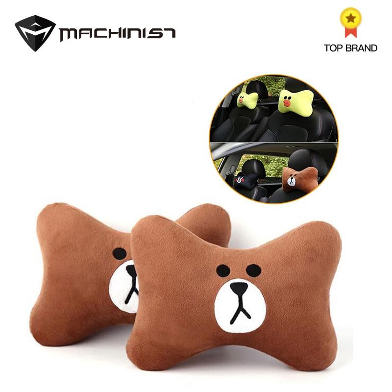 Neck-Pillow-Seat Car-Headrest Car-Upholstery-Products Cartoon 1-Pair Creative