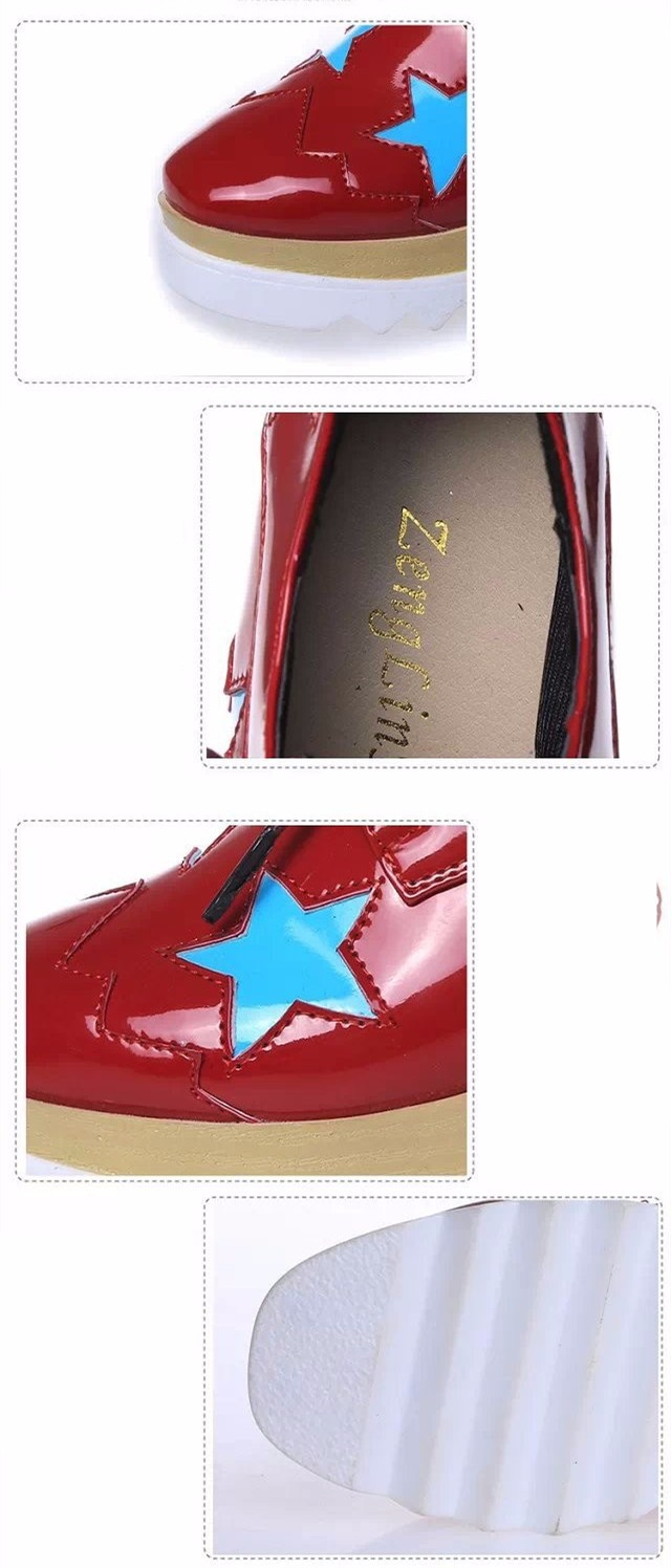 2015 Style Stars Vintage Womens Round Toe Patent Leather Flat Platform Oxford Lace up Derby Shoes Size 35-39 Brogue Shoes PX69 (3)