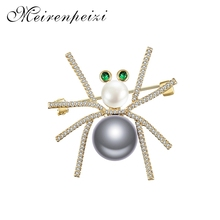 Women's delicate little spider brooch crystal rhinestone brooch enamel brooch jewelry gift brooch for men and women rhinestone faux gem halloween spider brooch