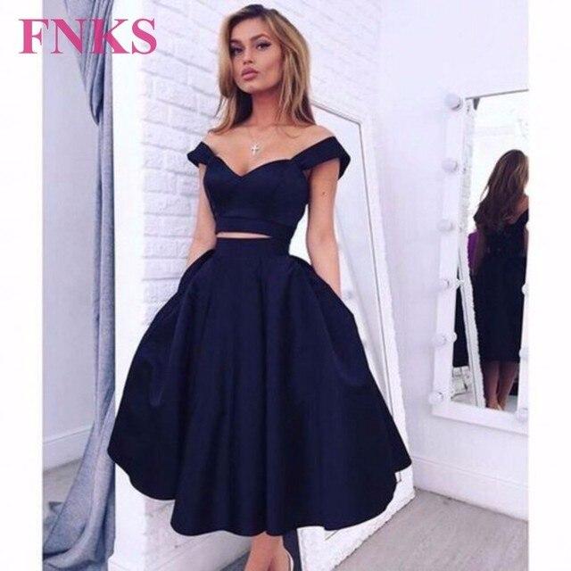 Navy Blue Short Dresses