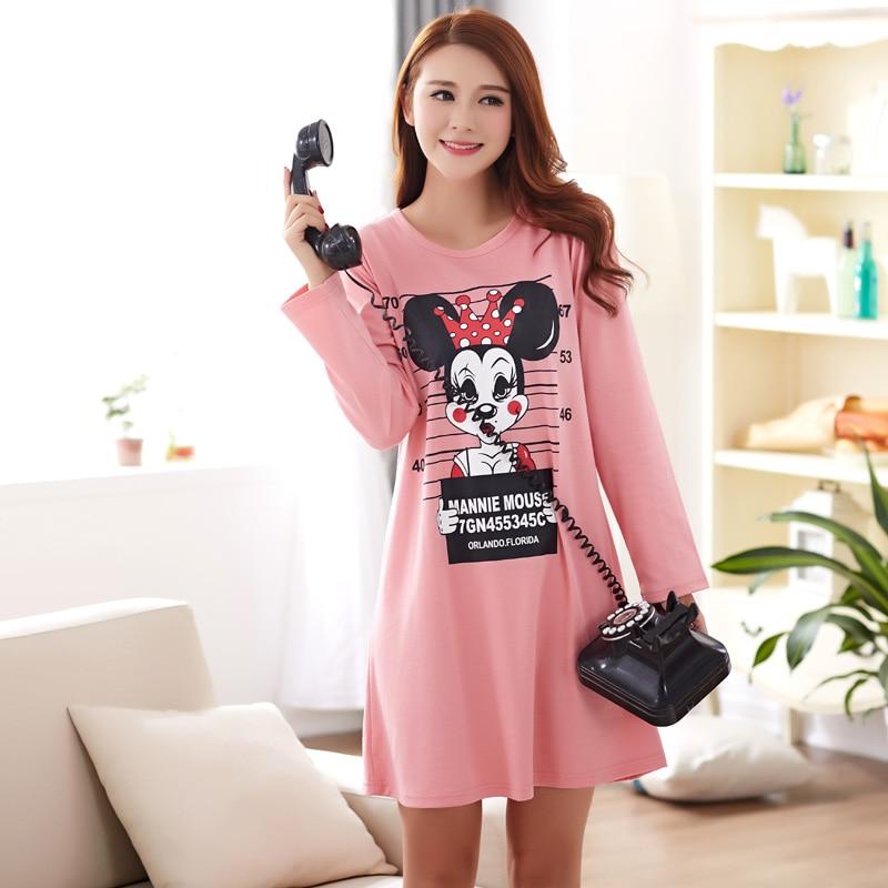 Plus Size New Style Night Gown Women Nightwear Nightdress Rat