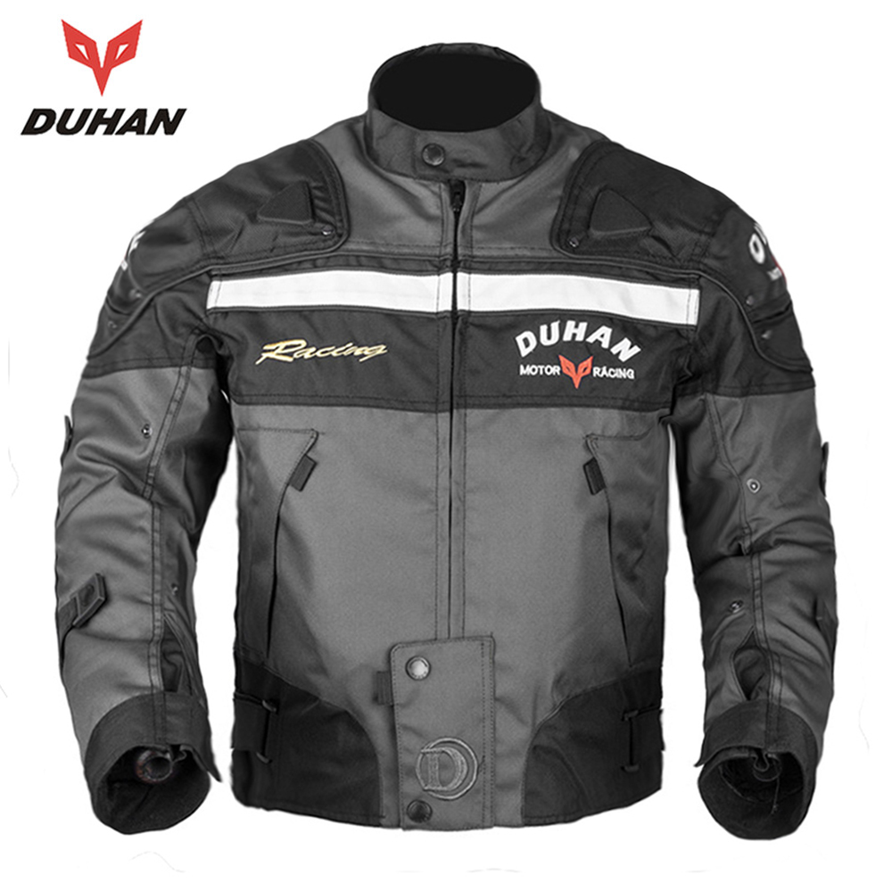 DUHAN Motorcycle Jacket Riding Armor Motocross Off-road Racing Jacket Men Rider Clothes Motorcycle Protector for Winter Autumn free shipping dennis d day riding jacket motorcycle jacket racing jacket motorcycle riding clothes winter to keep warm clothes